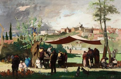 Rafael DURANCAMPS - Pintura - Pradera de San Isidro , Madrid