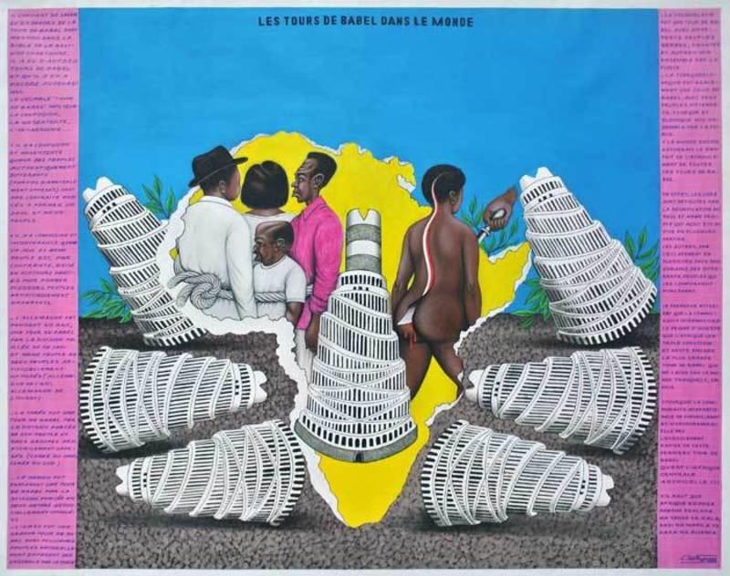 Chéri SAMBA - Gemälde - Les tours de Babel dans le monde