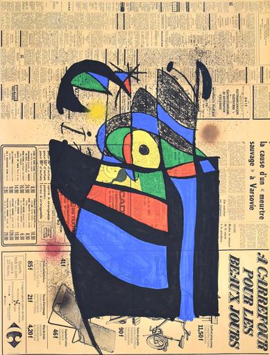 胡安·米罗 - 版画 - The Newspaper | Le Journal