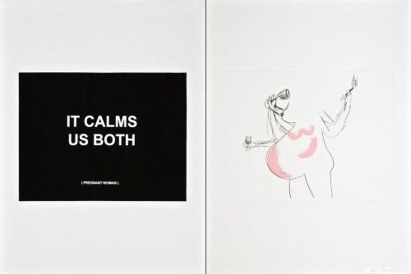 Laure PROUVOST - Estampe-Multiple - It calms us both 1