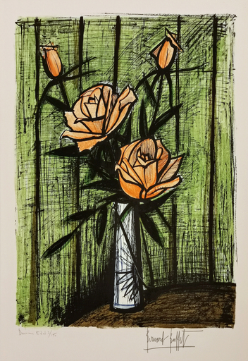 Bernard BUFFET - Stampa-Multiplo - Roses (orange)