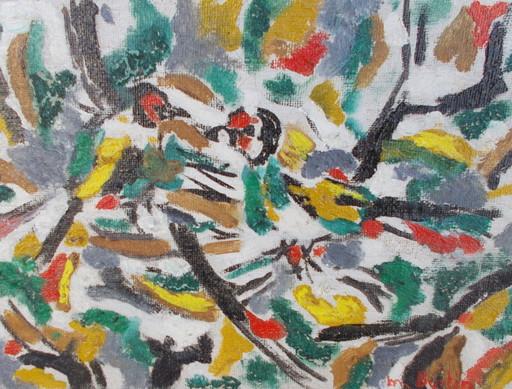 Marcel BURTIN - Painting - Les oiseaux