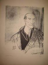 Edouard Georges MACAVOY - Print-Multiple - Portrait d'André Gide,1958.