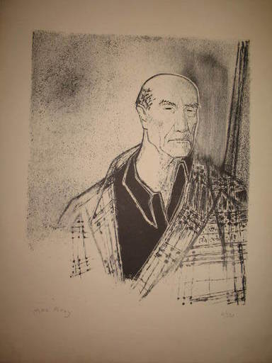 Edouard Georges MACAVOY - Stampa-Multiplo - Portrait d'André Gide,1958.