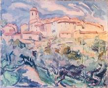 Alfred VACHON - Painting - Le village de Ramatuelle