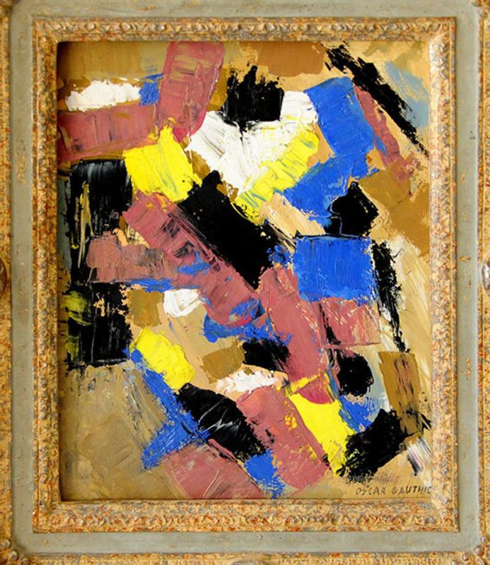 Oscar GAUTHIER - Peinture - Composition Abstraite