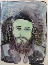 Nathan GUTMAN - Drawing-Watercolor - Rabbi