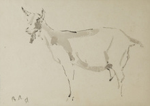 Vladimir Vasil'evich LEBEDEV - Drawing-Watercolor - The Goat