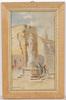 "Ludwig Hans FISCHER - Dibujo Acuarela - ""Motif of Tarragona, Spain"", watercolor, late 19th century"