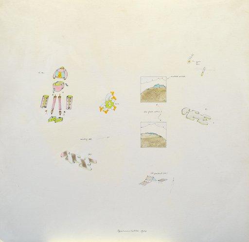 Gianfranco BARUCHELLO - Painting - Cheese Monster Collinare