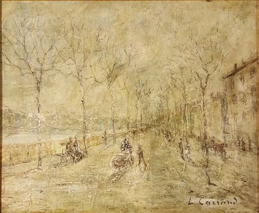 Louis Hilaire CARRAND - Peinture - scène de rue animée