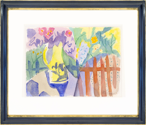 Heinrich STEINER - Drawing-Watercolor - Summer garden