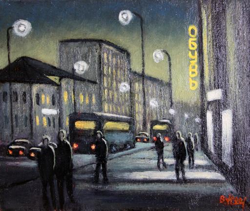 Valeriy NESTEROV - Pintura - Nizhegorodskaya Street. Moscow