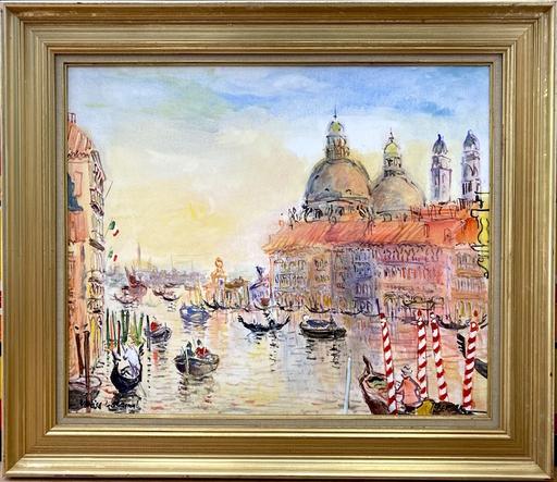 Paul LEBERGER - Pintura - Le canal à Venise
