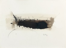 Georges MATHIEU - Drawing-Watercolor - Composition 58
