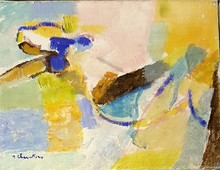 Jean CHEVOLLEAU - Peinture - NU BLOND