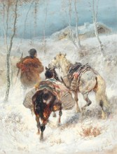 Christian Adolf SCHREYER (1828-1899) - Traveller with Horses