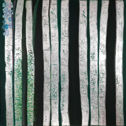 Corine LESCOP - Peinture - Forêt argentée