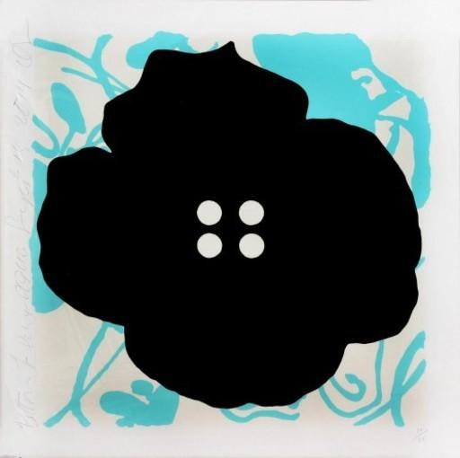 Donald SULTAN - Print-Multiple - Button Flower Aqua