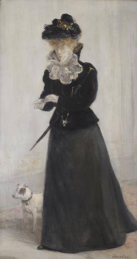 Jean-François RAFFAELLI - Painting - Portrait d'une Élegante