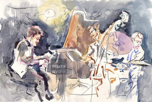 Märta WYDLER - Drawing-Watercolor - Jacky Terrasson, 2014