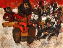 Théo TOBIASSE - Painting - L ' enfant du Seder
