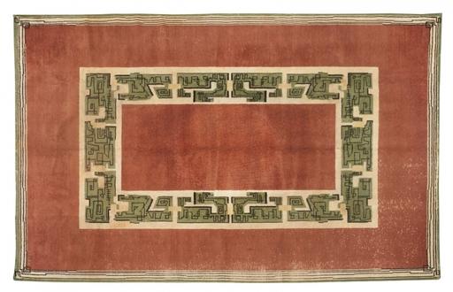 Paule LELEU - Arazzo - Grand tapis rectangulaire