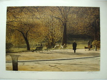 Harold ALTMAN - Grabado - Promenade dans le jardin,1989.