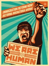 Shepard FAIREY - Radierung Multiple - We are human protest