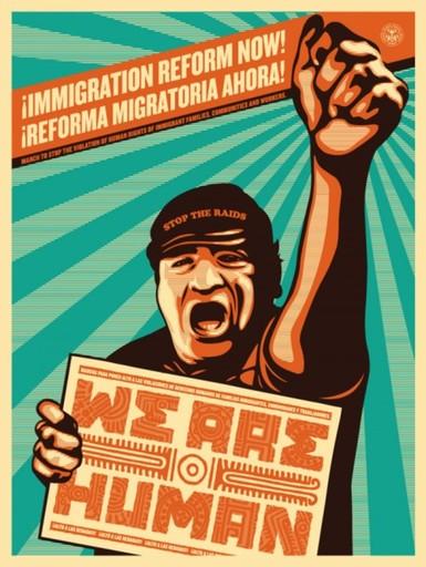 谢帕德·费瑞 - 版画 - We are human protest