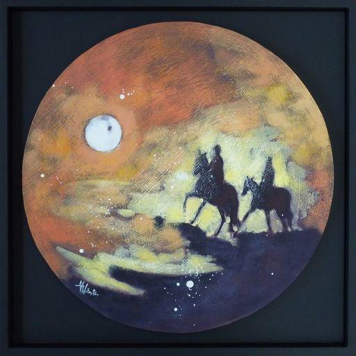 Anne Christine WELLENSTEIN - Peinture - Cavaliers  du soir