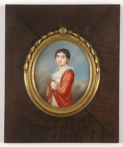 "Franziska SCHÖPFER - Miniatur - ""Rebekka Seligman, Jewish beauty from Bavaria"", important mi"