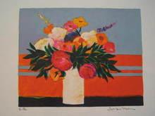 Jean-Claude ALLENBACH - Print-Multiple - Fleurs multicolores,1986.