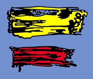 Jean-Philippe LEMÉE - Painting - Lichtenstein leméisé - coup de brosse