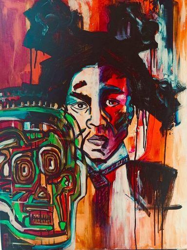 Katie GUITTARD - Peinture - Basquiat 2 en 1