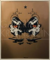 BANKSY - Peinture - Toxic Mary, (double) Unique, signed with artist tag centre