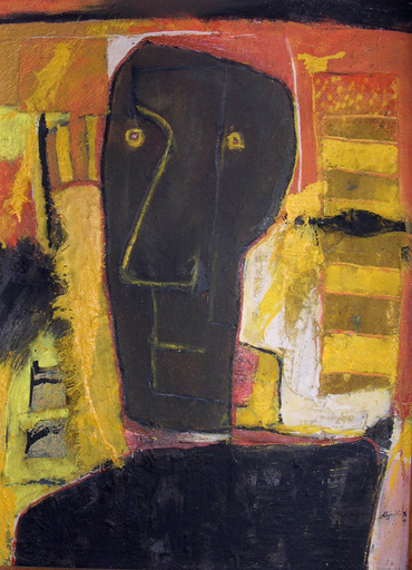 Alejandro SANTIAGO - Pintura - Black Face
