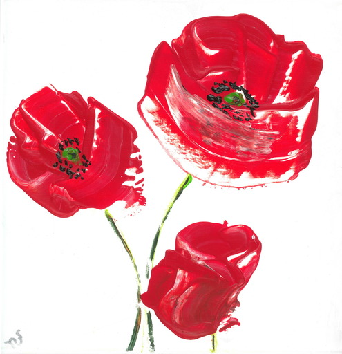 Lillie PIRVELLIE - Painting - Air Poppies
