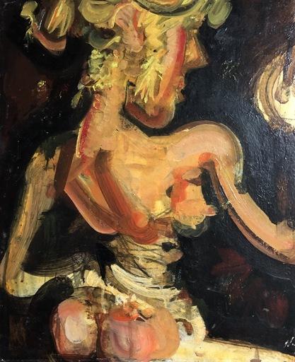 """Álvaro DELGADO - Painting - """" mujer"""""""