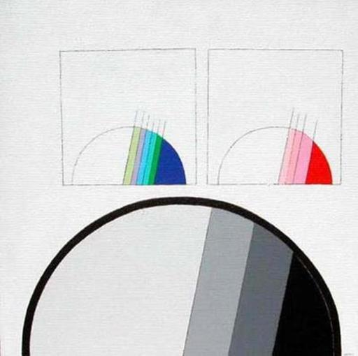 Eugenio CARMI - Painting - Due memorie su una memoria nel bianco