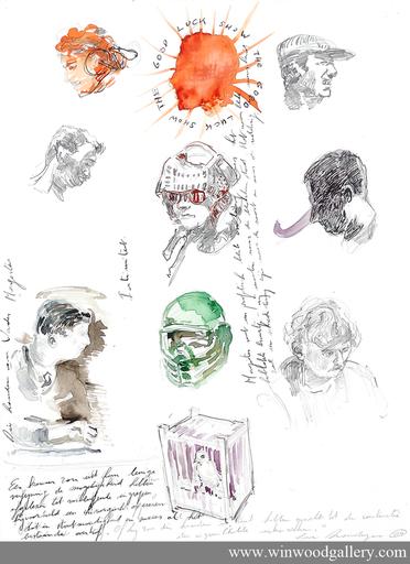Luc DONDEYNE - Disegno Acquarello - Good luck show