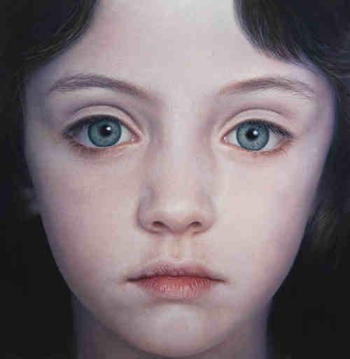 Gottfried HELNWEIN - Painting - Head of a Child 24 (Mollie)