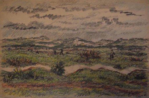 Leonid Romanovitch SOLOGUB - Drawing-Watercolor - Hunting