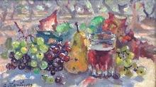 André HAMBOURG - Peinture - A Saint Rémy en septembre, prés des oliviers