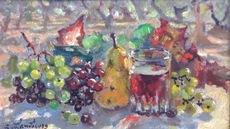 André HAMBOURG - Painting - A Saint Rémy en septembre, prés des oliviers