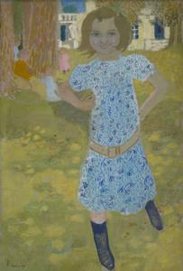 Maurice DENIS - Zeichnung Aquarell - Portrait de Mlle Fontaine à Mercin