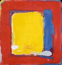 Bram BOGART - Grabado - Geel en blauw in rood