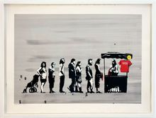 BANKSY - Stampa Multiplo - Festival Colour, AP signed