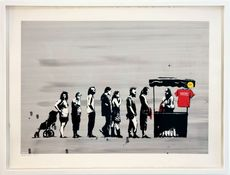 BANKSY - Estampe-Multiple - Festival Colour, AP signed