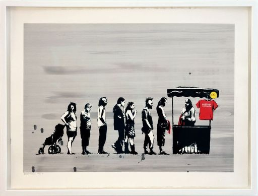 BANKSY - Print-Multiple - Festival Colour, AP signed